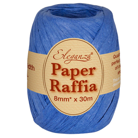 Roll of Royal Blue Paper Raffia - 30m