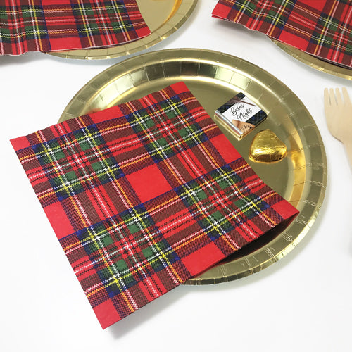 Burns Night Royal Stewart Tartan Napkins - 33cm - Pack of 20