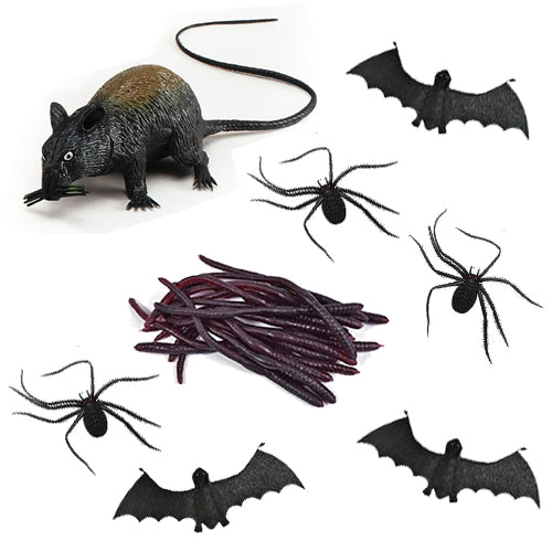 Rubber Creepy Crawly Props - Pack of 32