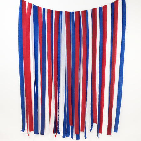Red, White and Blue Streamer Backdrop DIY Kit