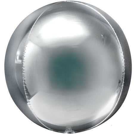 Silver Orbz Spherical Foil Balloon - 38cm