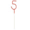 Rose Gold Number 5 Party Sparkler - 17.8cm
