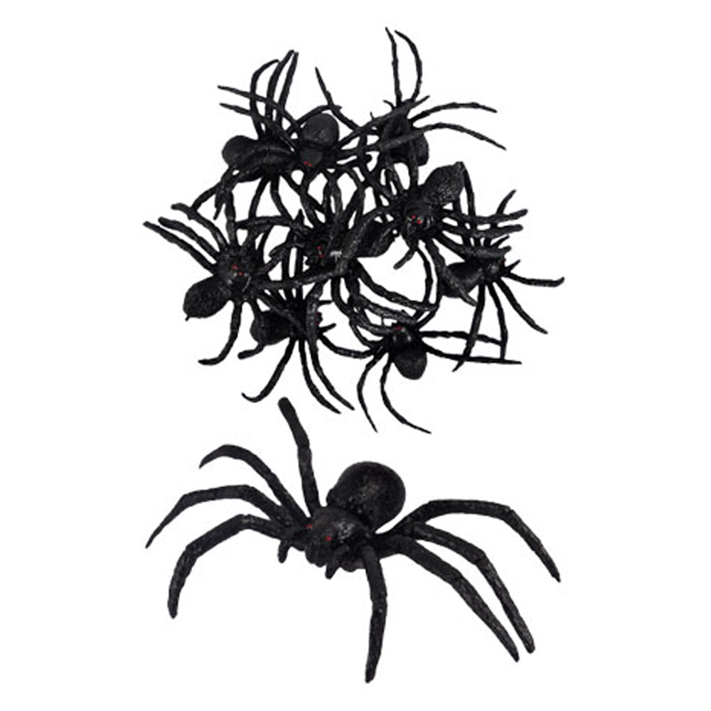 Scary Spiders - 8cm - Pack of 9