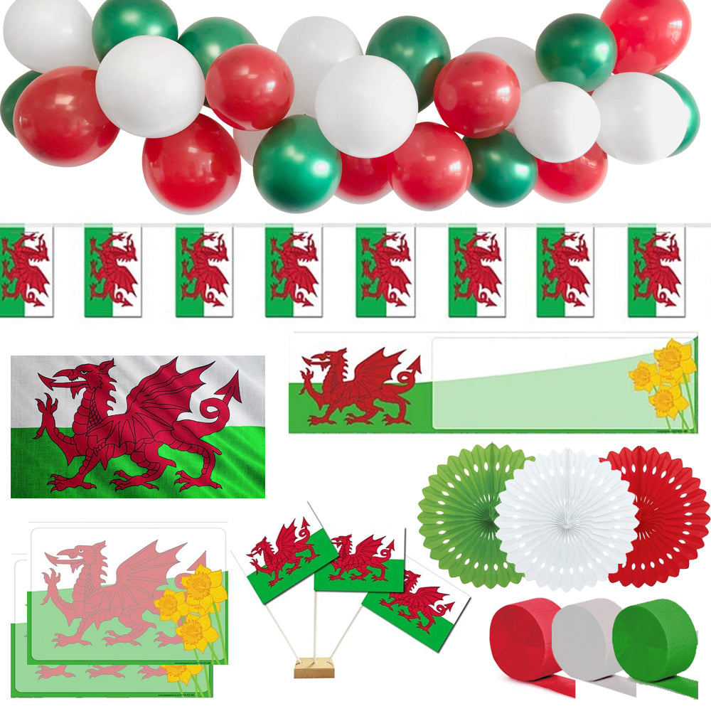 St David's Day Welsh Party Decoration Pack