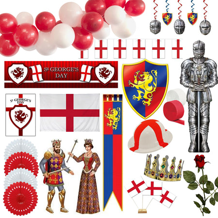 Large St. George's Day Decoration & Novelties Party Pack