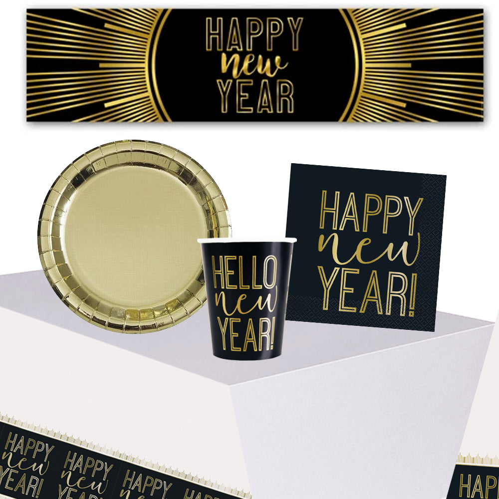 Happy New Year Tableware Pack With FREE Banner