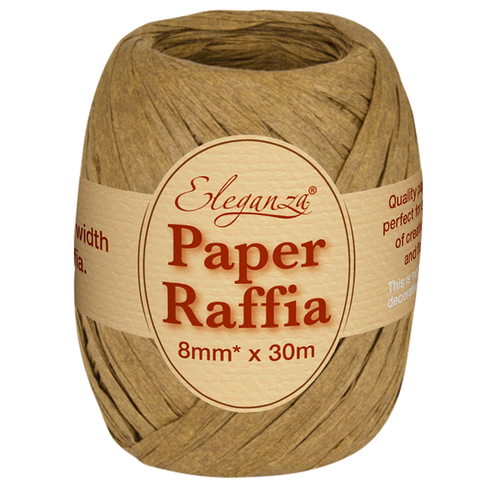 Roll of Natural Paper Raffia - 30m
