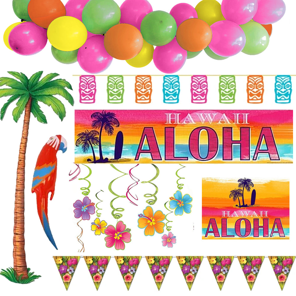 Tropical Beach Party Decoration Pack