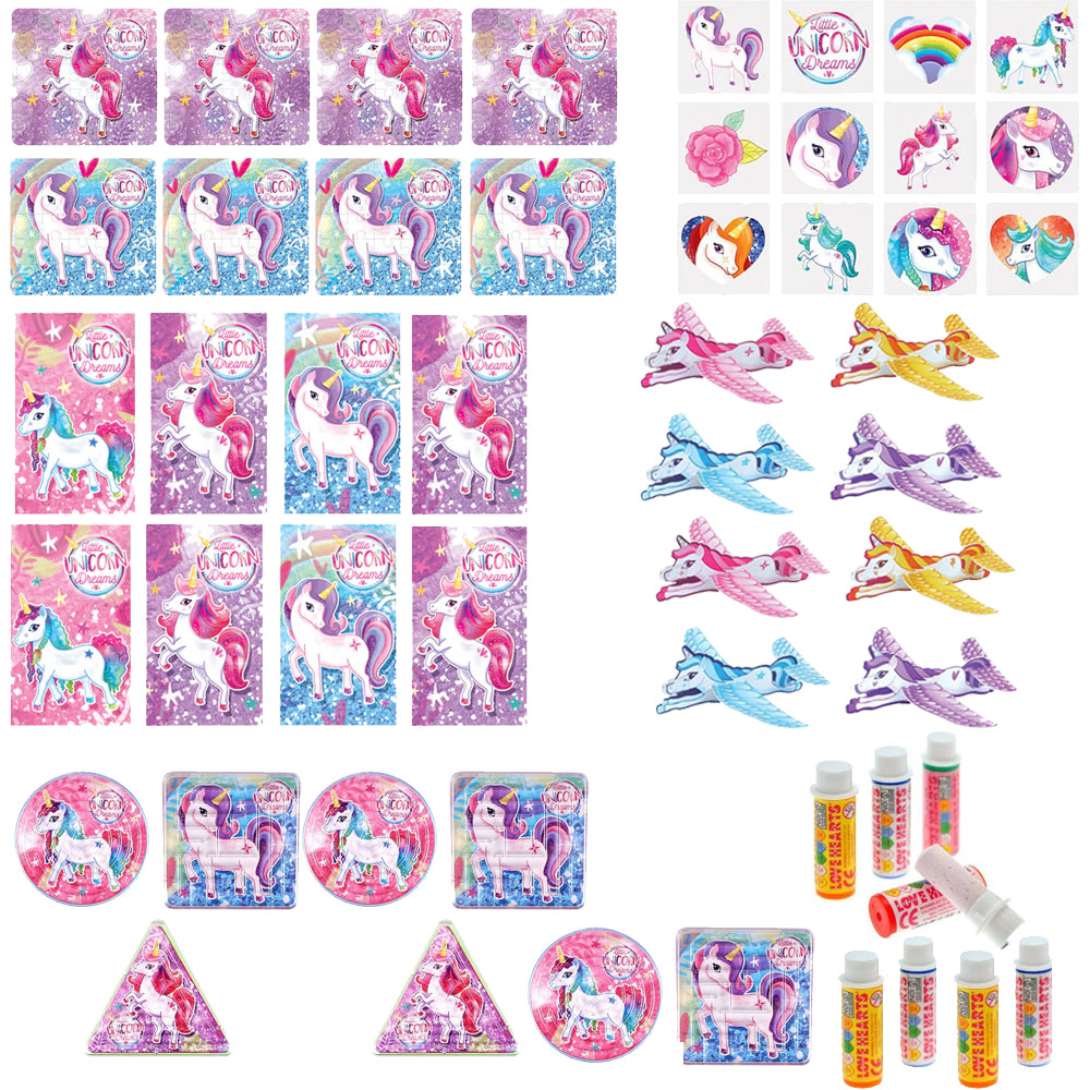 Unicorn Plastic Free Party Bag Kit with Contents - Each
