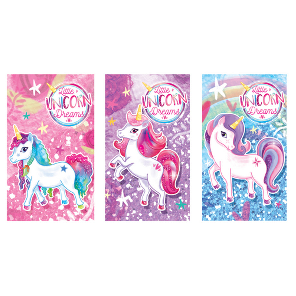 Mini Unicorn Notebook - Assorted - 9cm x 5.5cm -  Each