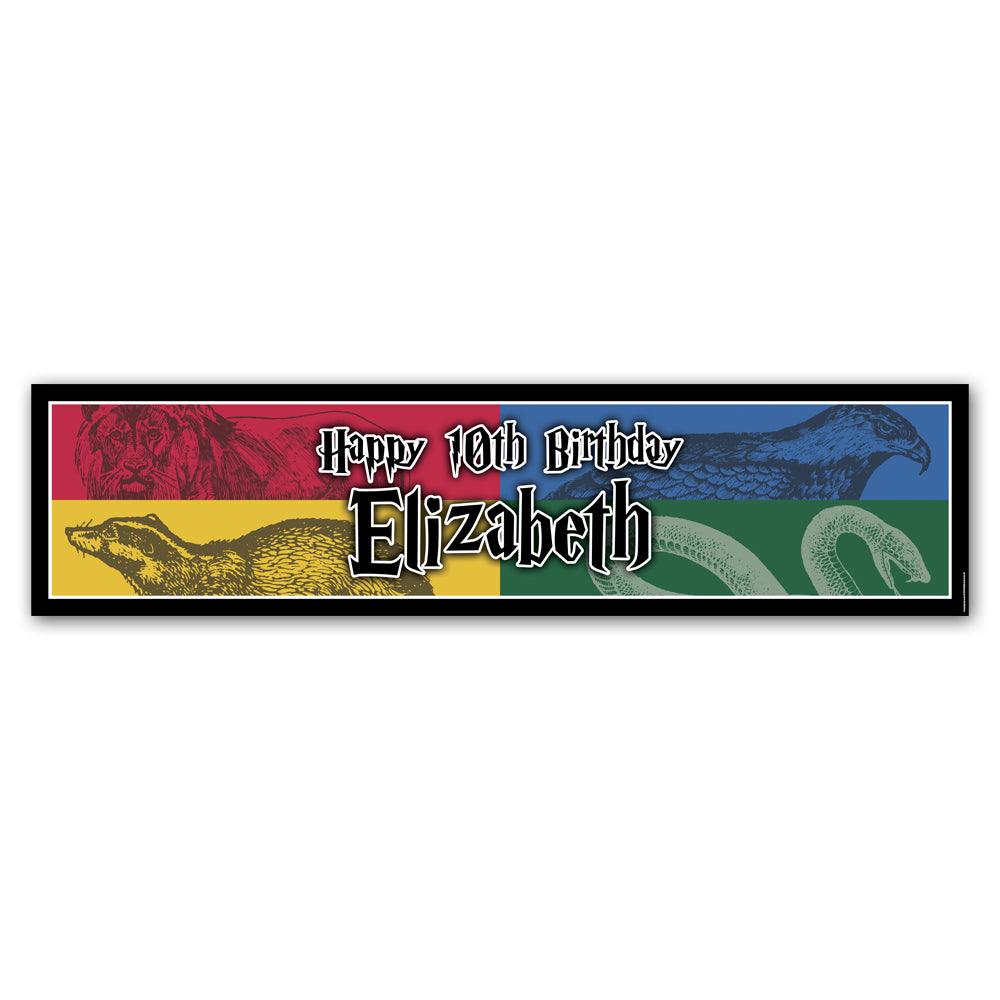 Wizard Houses Personalised Banner - 1.2m