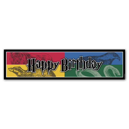 Wizard Houses 'Happy Birthday' Banner Decoration
