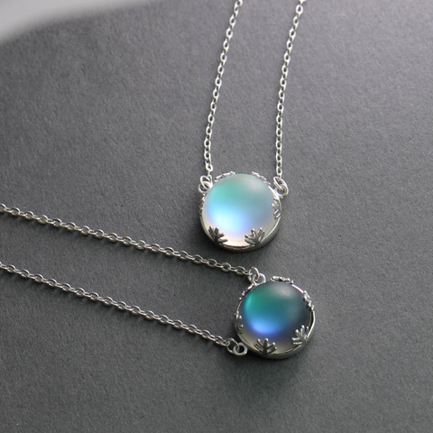 Halo Crystal Aurora Forest Necklace