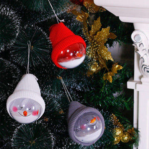Christmas Snowman Balls, 3 Packs (Red, White, Grey)