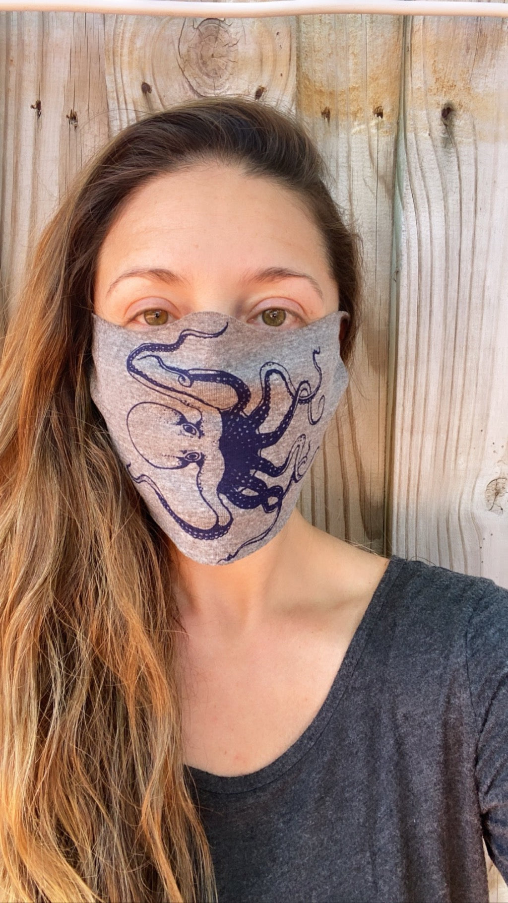 Six Pack Assorted Octopus Face Masks