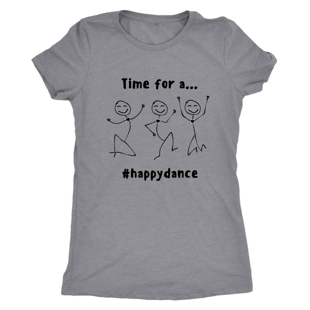 """Happy Dance"" Women's Crew Neck Tee"