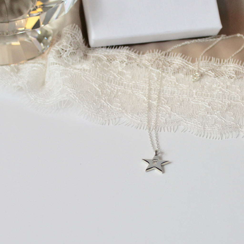Star Initial Necklace