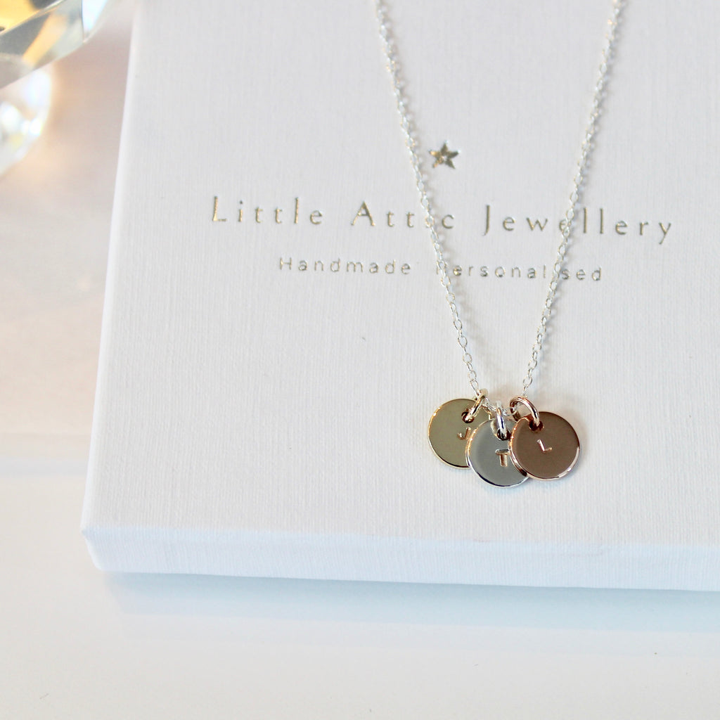 Mini Trio Initial Necklace