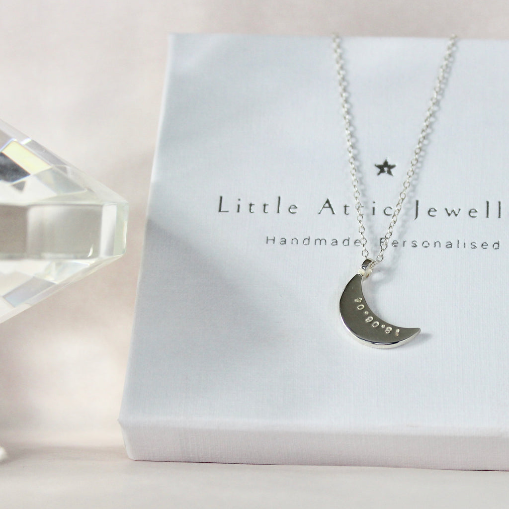 Sleepy Moon Necklace