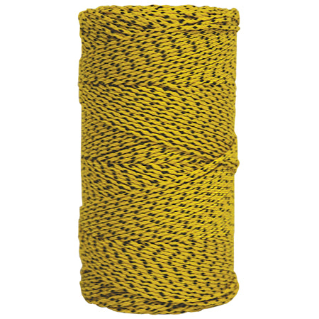 W. Rose™ Super Tough Bonded Braided Nylon Line Yellow & Black - 685'