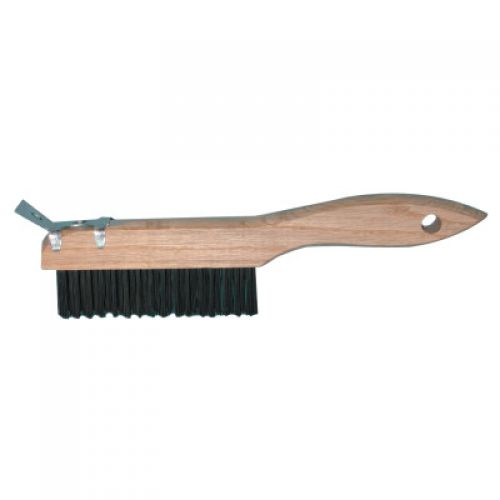 Straight Handle Wire Brush with Scraper 4