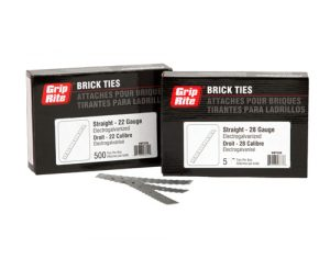 Corrugated Brick Wall Tie Box (500 ea.) - MasonryDirect.com