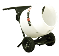 "MultiQuip Polyethylene-Drum ""Mix-N-Go"" MC3PEA Portable Mixer 3cf, .75 HP Electric 115V, Includes Stand is a construction and masonry supply offered by Masonry Direct"