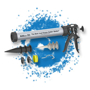 Albion B26S20 20oz B-Line Manual Sausage Gun w/ High-Thrust 26:1 Ratio Drive is a construction supply by Masonry Direct