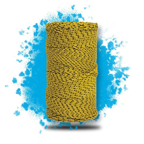 W. Rose™ Super Tough Bonded Braided Nylon Line Yellow & Black - 685'  is a masonry product by Masonry Direct