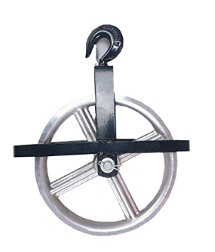 Scaffold Hoist Pulley Wheel for Lifting with Rope is a construction and masonry supply offered by Masonry Direct