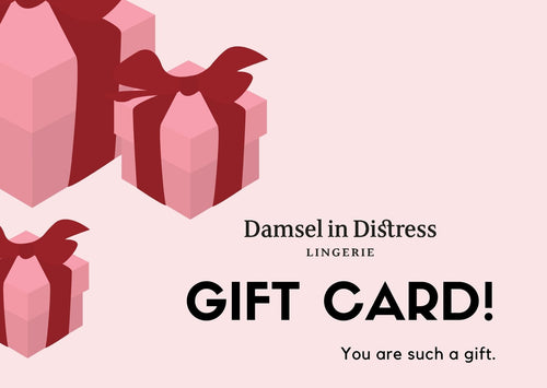 Damsel in distress gift card