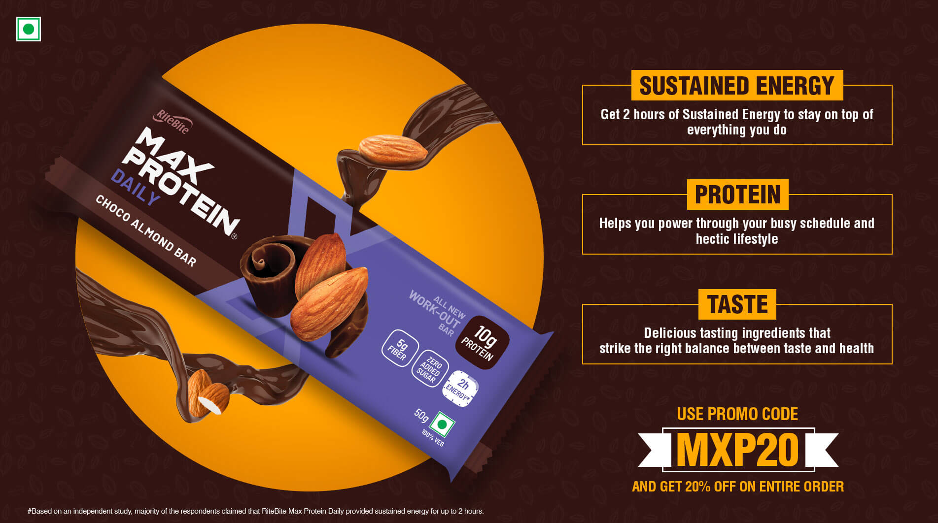 max protein landing page banner