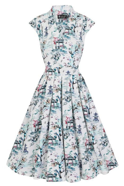 New // LADY VINTAGE 'Eva - Benoa Watercolour' Dress // Size 14