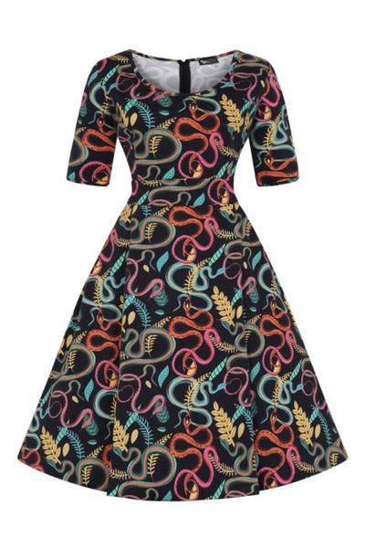 New // LADY VINTAGE 'Vivien - Snakehips' Dress // Size 16