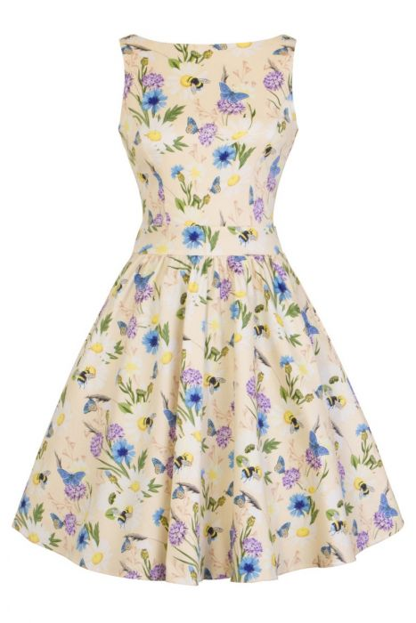 New // LADY VINTAGE 'Oh To Bee Daisy - Tea Dress' // Size 18