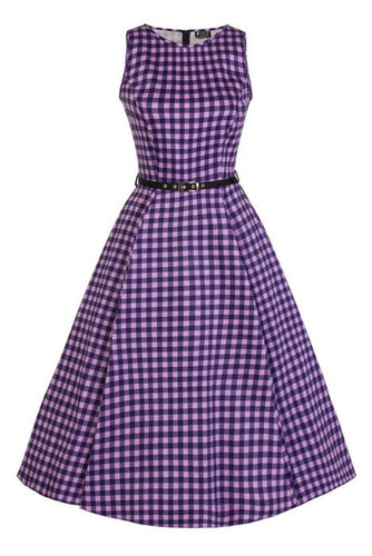 New // LADY VINTAGE 'Hepburn - Gumdrop Gingham' Dress // Sizes 16 & 18