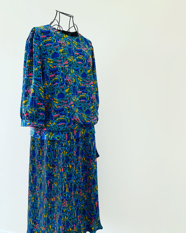 Vintage // SALLY SMALL Multi-Coloured Dress // Size 12