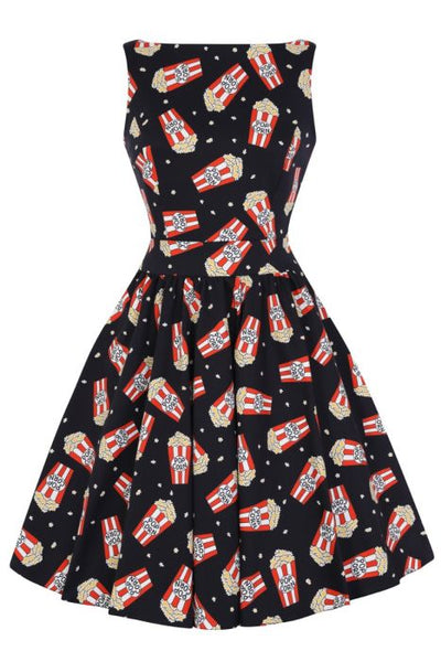 New // LADY VINTAGE 'A Night At The Movies' Tea Dress // Sizes 16 & 18