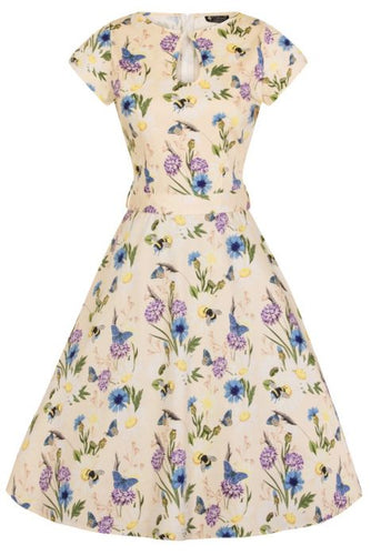 New // LADY VINTAGE 'Keyhole - Oh To Bee Daisy' Day Dress // Size 16