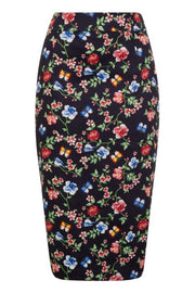New // LADY VINTAGE 'Secret Garden Wiggle Skirt ' // Size 16