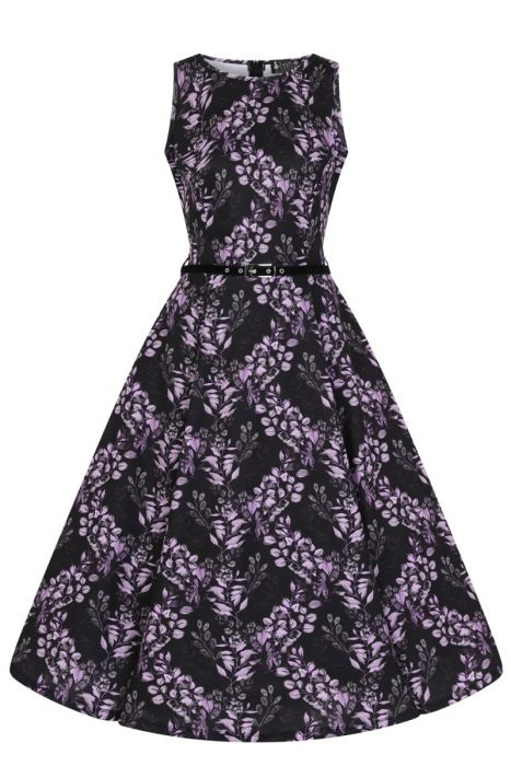 New // LADY VINTAGE 'Hepburn - Vineyard By Night' Dress // Size 14