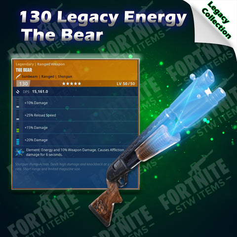 Legacy 130 Energy The Bear
