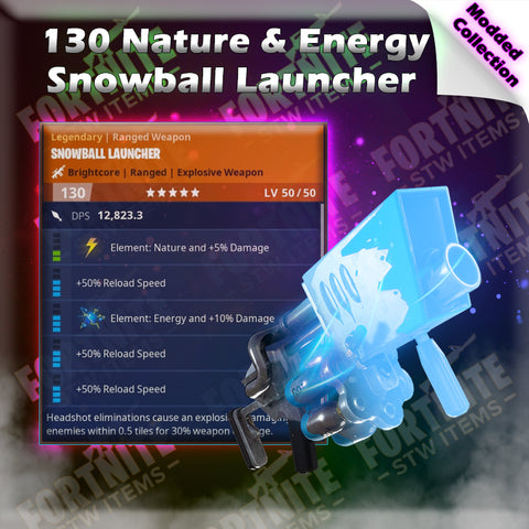 Modded FULL DURABILITY 130 Energy & Nature Snowball Launcher