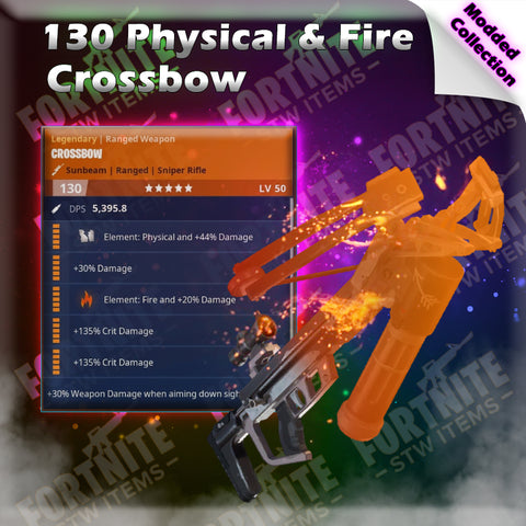 Modded 130 Fire & Physical Crossbow