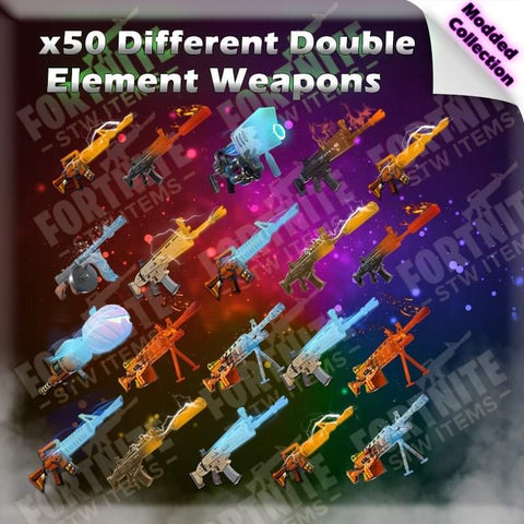 50 x Different Double Elements