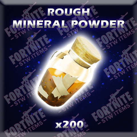 200 x Rough Mineral Powder