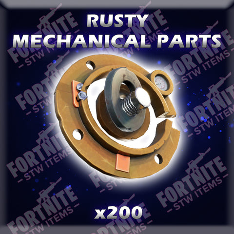 200 x Rusty Mechanical Parts