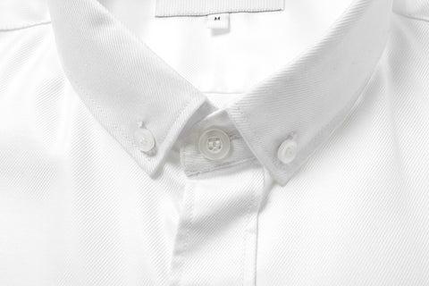 Button-down Textured White Shirt