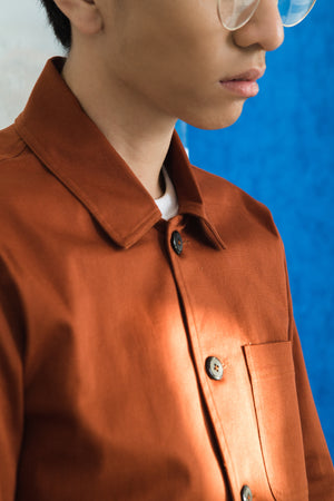 Twill Terracotta Shacket