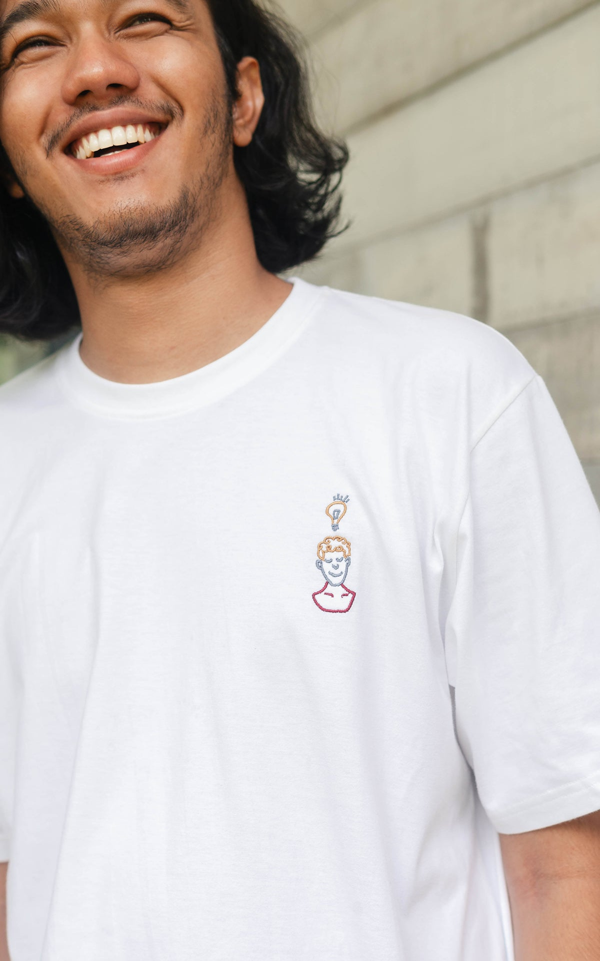 Eureka Embroidery White T-Shirt